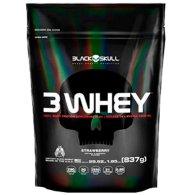 3 Whey Protein 837g - Black Skull