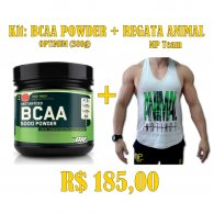 Kit - Bcaa Powder (380g) Optimum + Regata ANIMAL MP Team