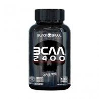 BCAA 2400 Caveira Preta Series 100 tabletes - Black Skull