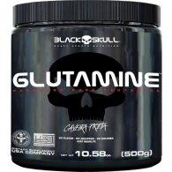Glutamina Caveira Preta Series 500g - Black Skull