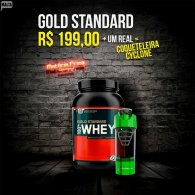 Kit Gold Standard 2lbs + Coqueteleira Cyclone Cup