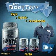 Kit (Whey 3w 900g + Bcaa Powder + Pr�-treino Xtreme Shock) - Body Tech Nutrition