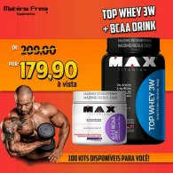 Kit Top 3w 900g + BCAA Drink 280g - Max Titanium