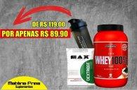 Whey 100% 900g Integralmedica + Dextrose 1kg Max Titanium + Coqueteleira 600ml MP